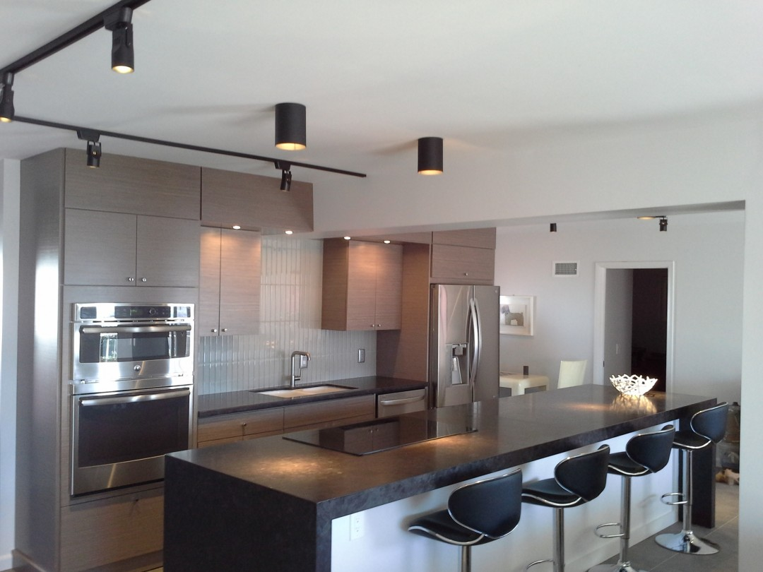 Contemporary kitchen and island